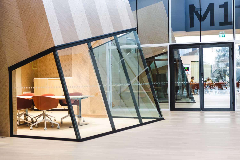 Scanmikael Office glass walls_High glass walls_Complex walls_ABB Vaasa, Finland