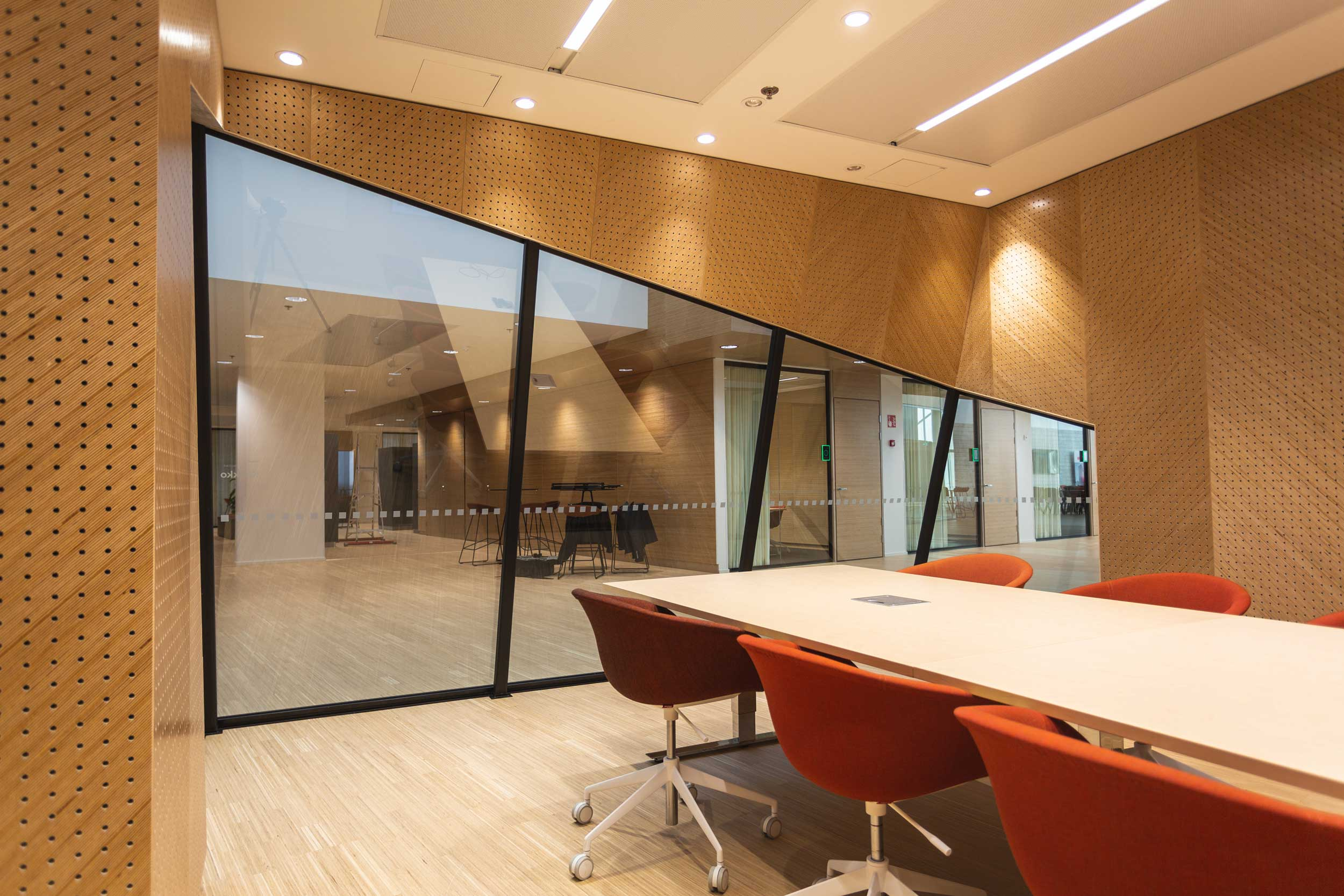 Scanmikael Office glass walls_Soundproof glass walls_Complex walls_High glass walls_ABB Vaasa, Finland