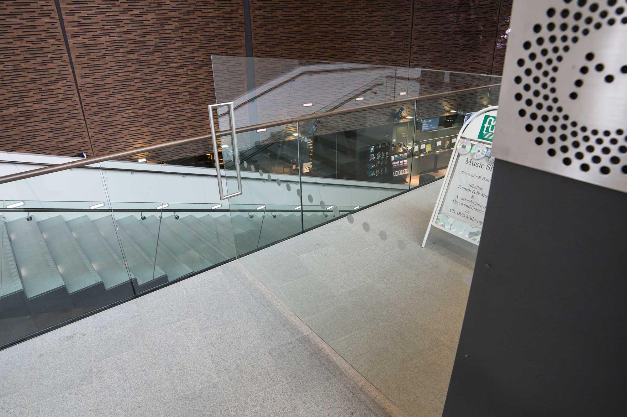Scanmikael_Sliding glass doors_Fuga at Helsinki Music Centre, Finland