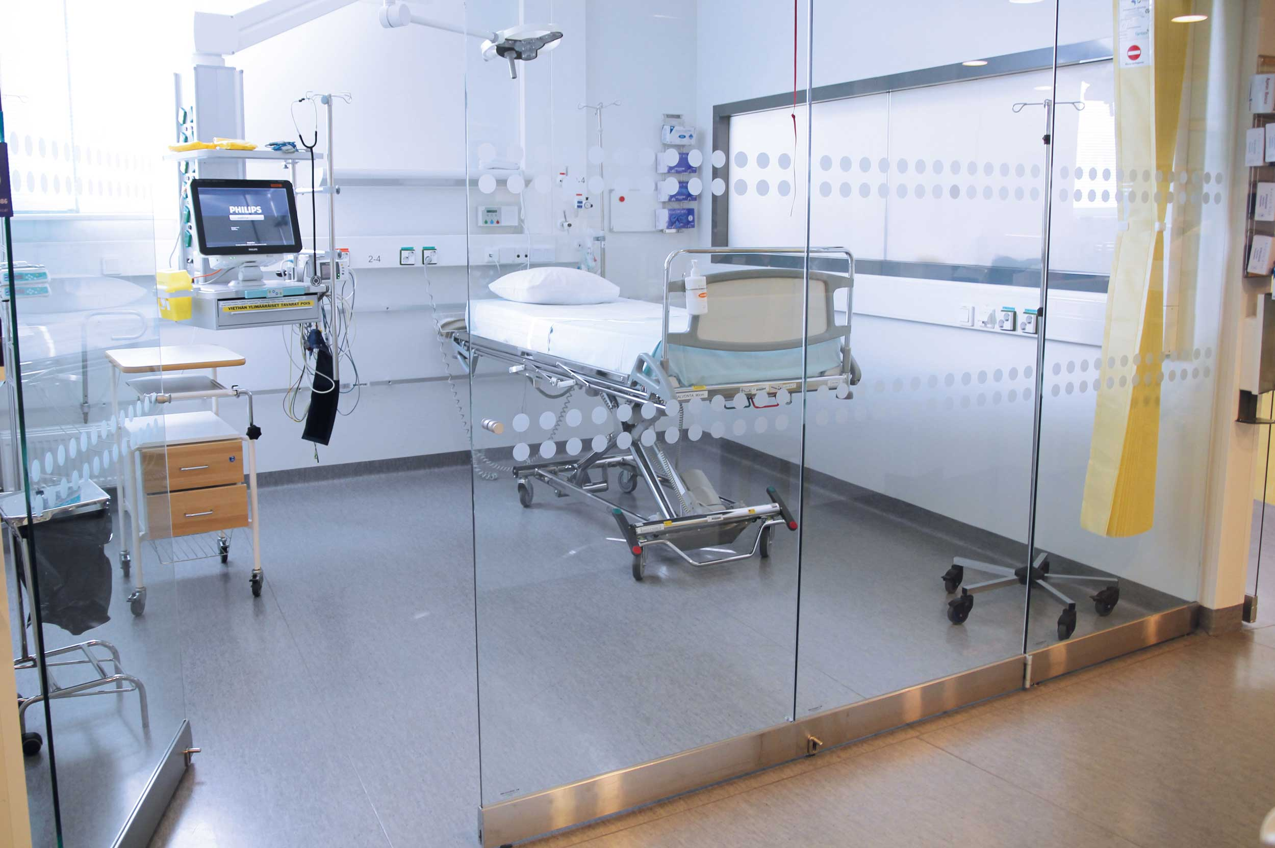 Scanmikael Movable glass walls_ Fixed smart glass walls_Malmin hospital_Helsinki, Finland
