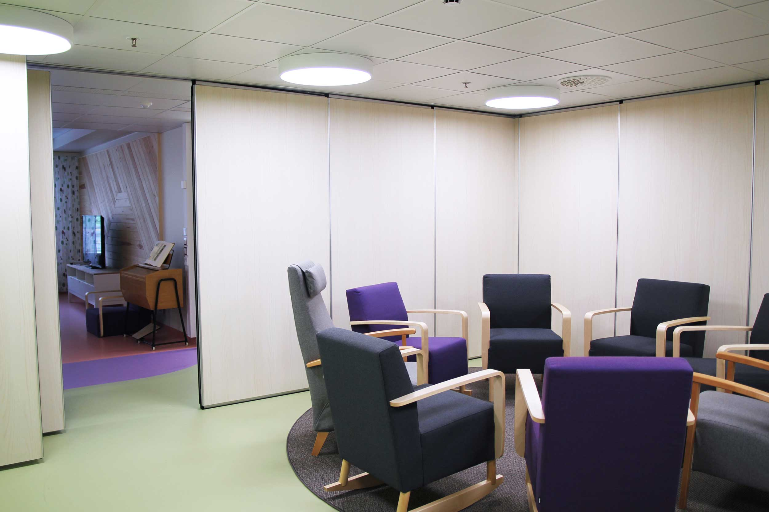 Scanmikael Sound proof walls, movable panel walls_ Kouvola care home_Kouvola, Finland