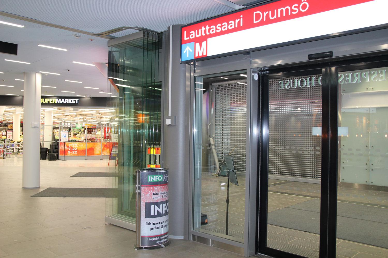 Scanmikael_Flyttbar glasvägg_Drumsö_metrostation_HelsingforsFlyttbar glasvägg_Drumsö_metrostation_Helsingfors