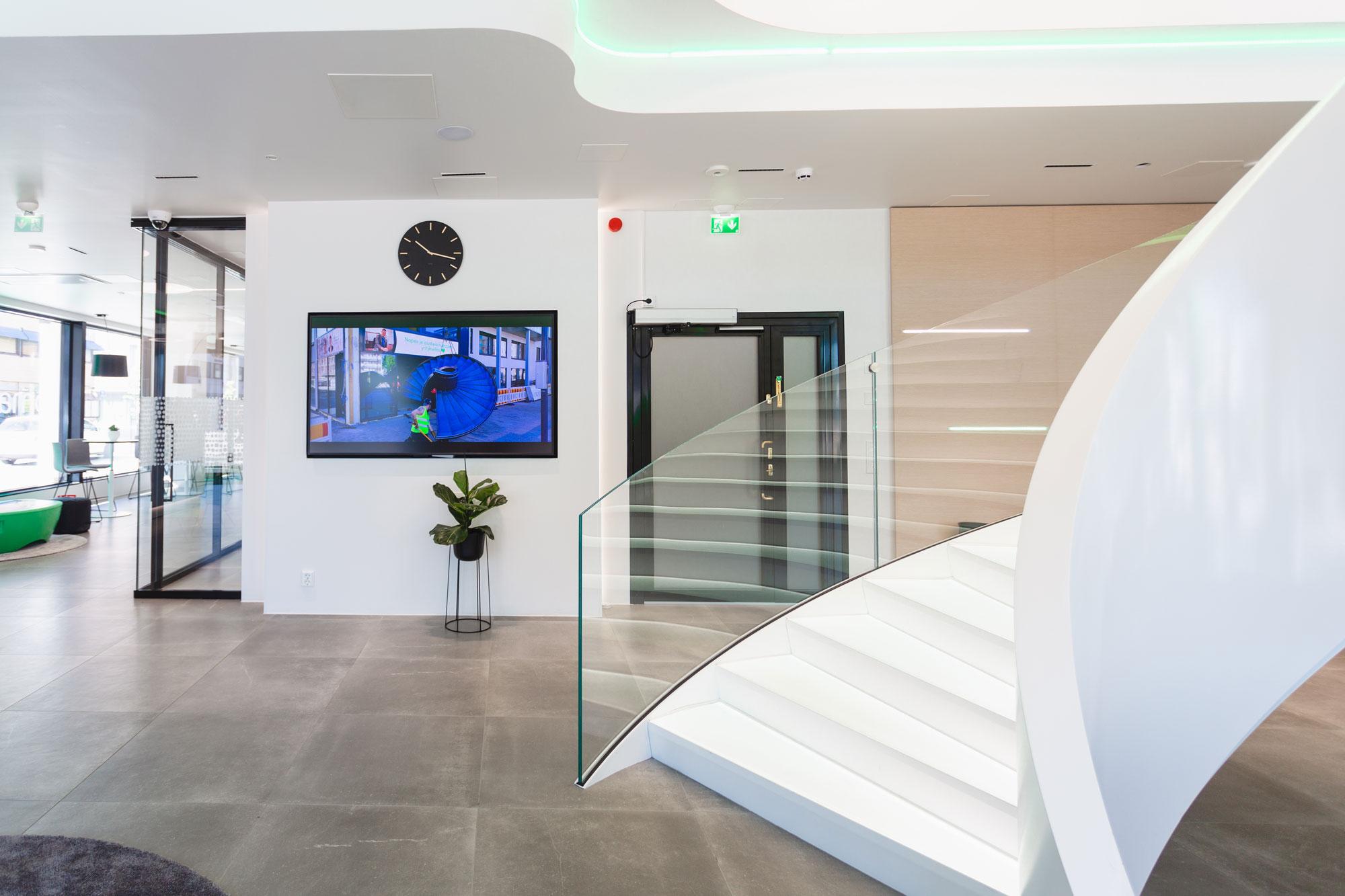 Scanmikael Office glass walls_glass balustrades_OmaSP Seinäjoki, Finland