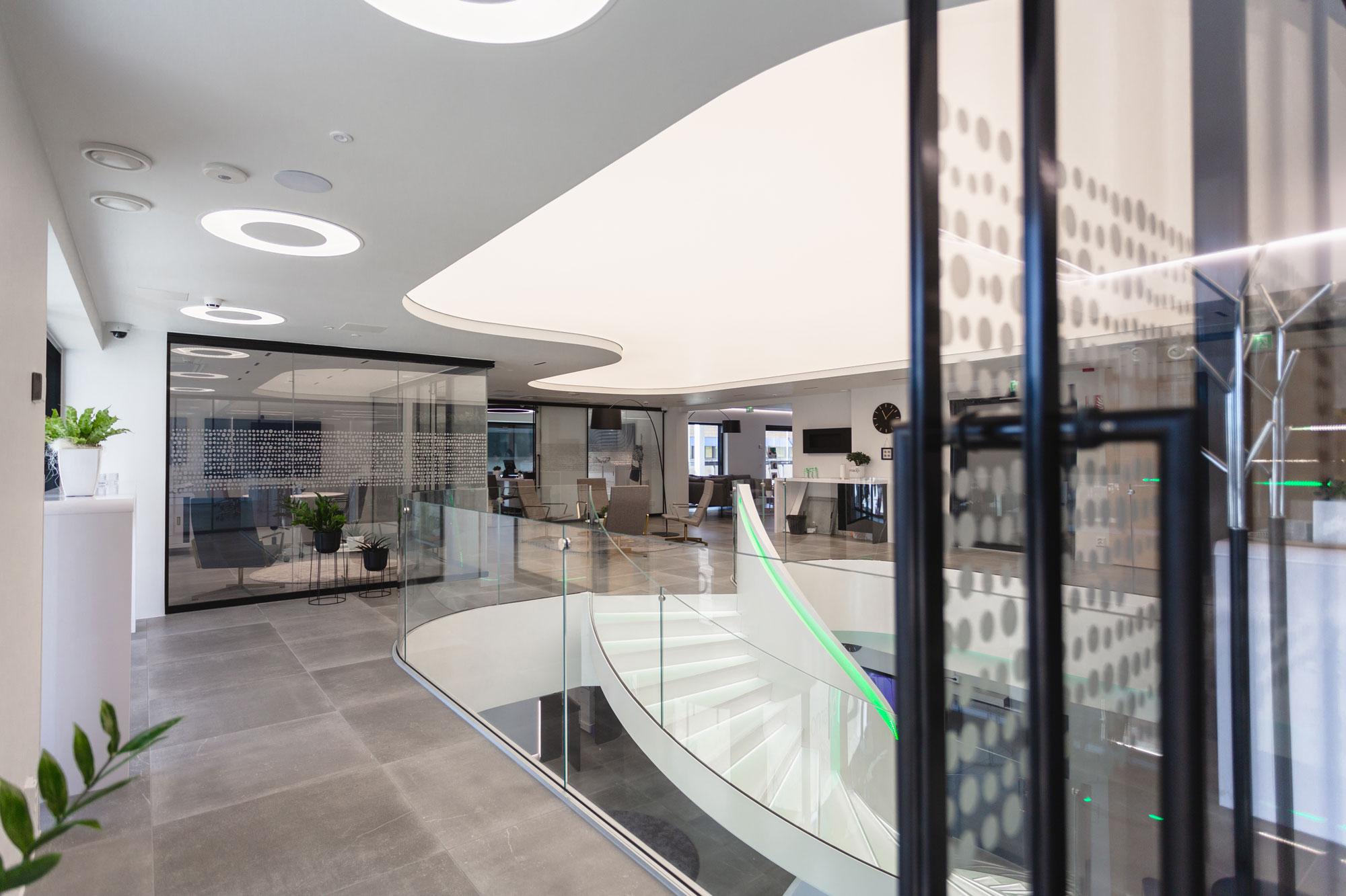 Scanmikael Office glass walls_Glass balustrades_Smart glass walls_OmaSp, Seinäjoki, Finland